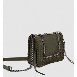4082ad937b Zara Bags | Leather Crossbody Bag With Chainref 1346304 | Poshmark